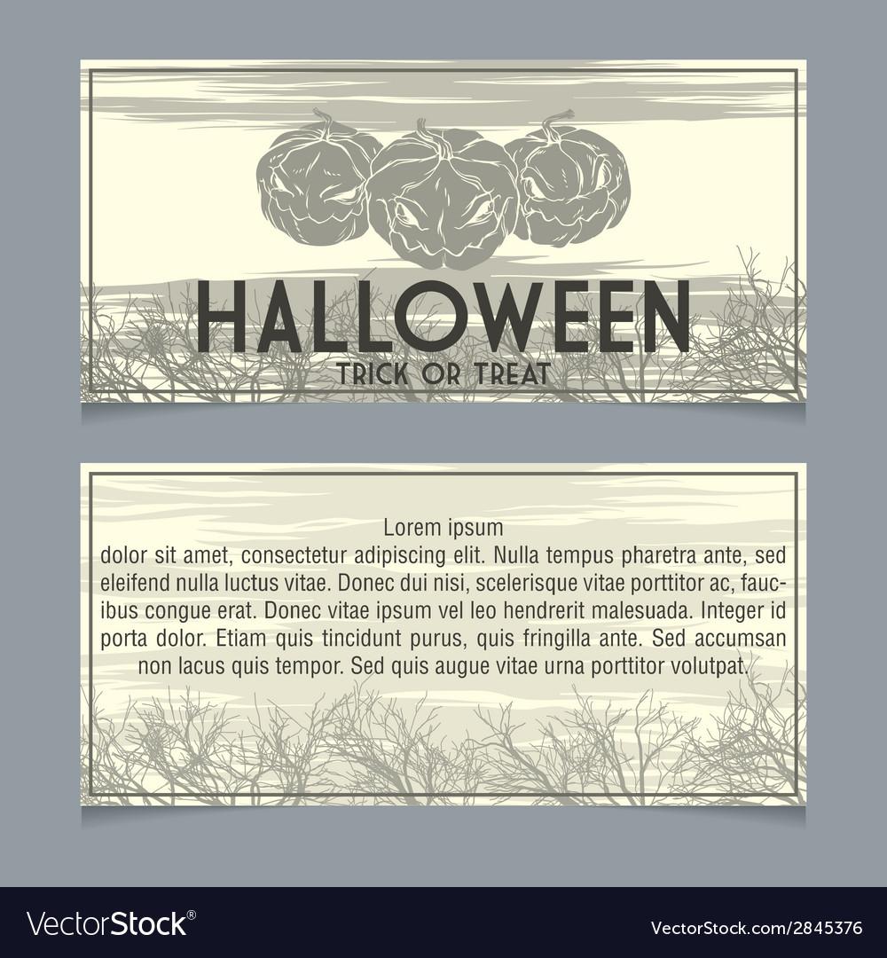 Halloween invitation vector | Price: 1 Credit (USD $1)