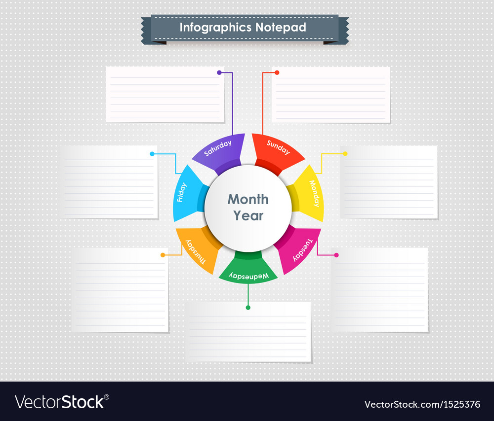 Info graphics notepad vector | Price: 1 Credit (USD $1)