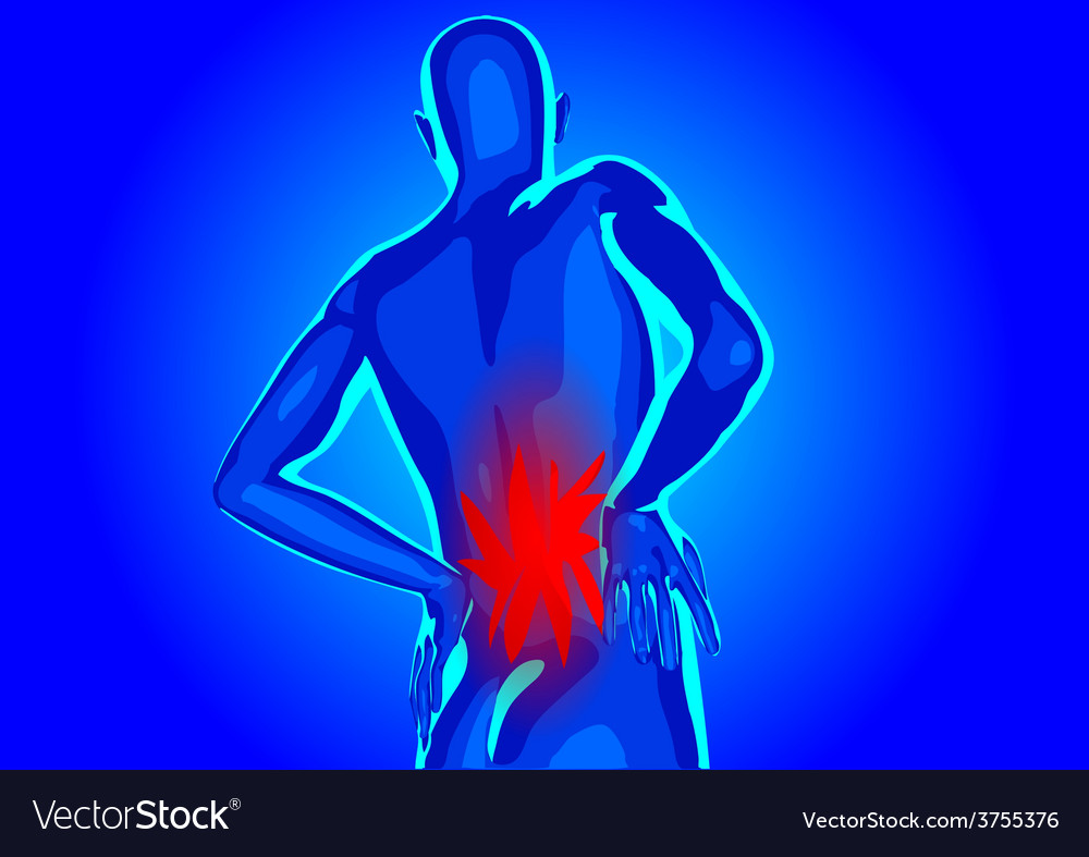 Lower back pain vector | Price: 1 Credit (USD $1)