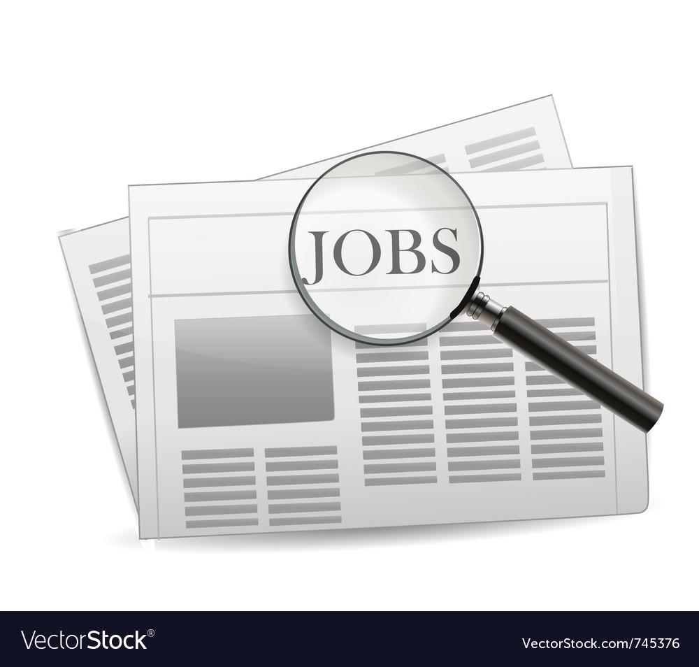 Newspaper jobs vector   Price: 3 Credit (USD $3)