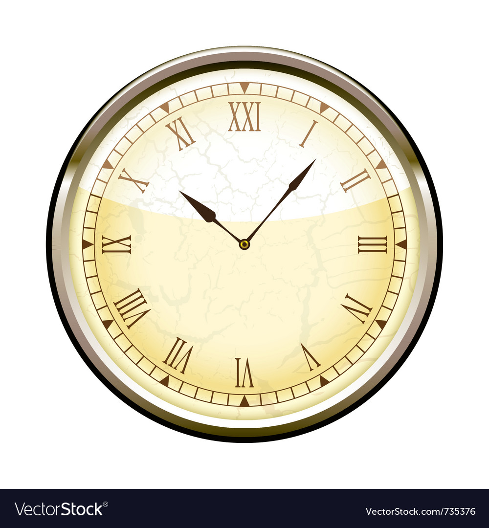 Old fashioned clock vector | Price: 1 Credit (USD $1)