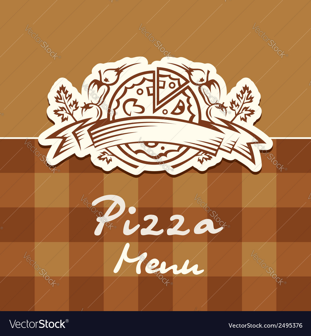 Pizza design menu vector | Price: 1 Credit (USD $1)
