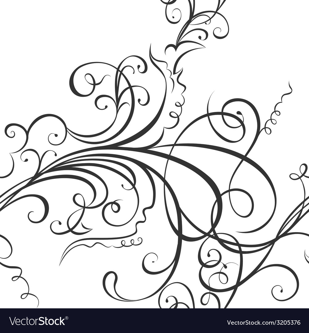 Swirling floral ornament vector | Price: 1 Credit (USD $1)
