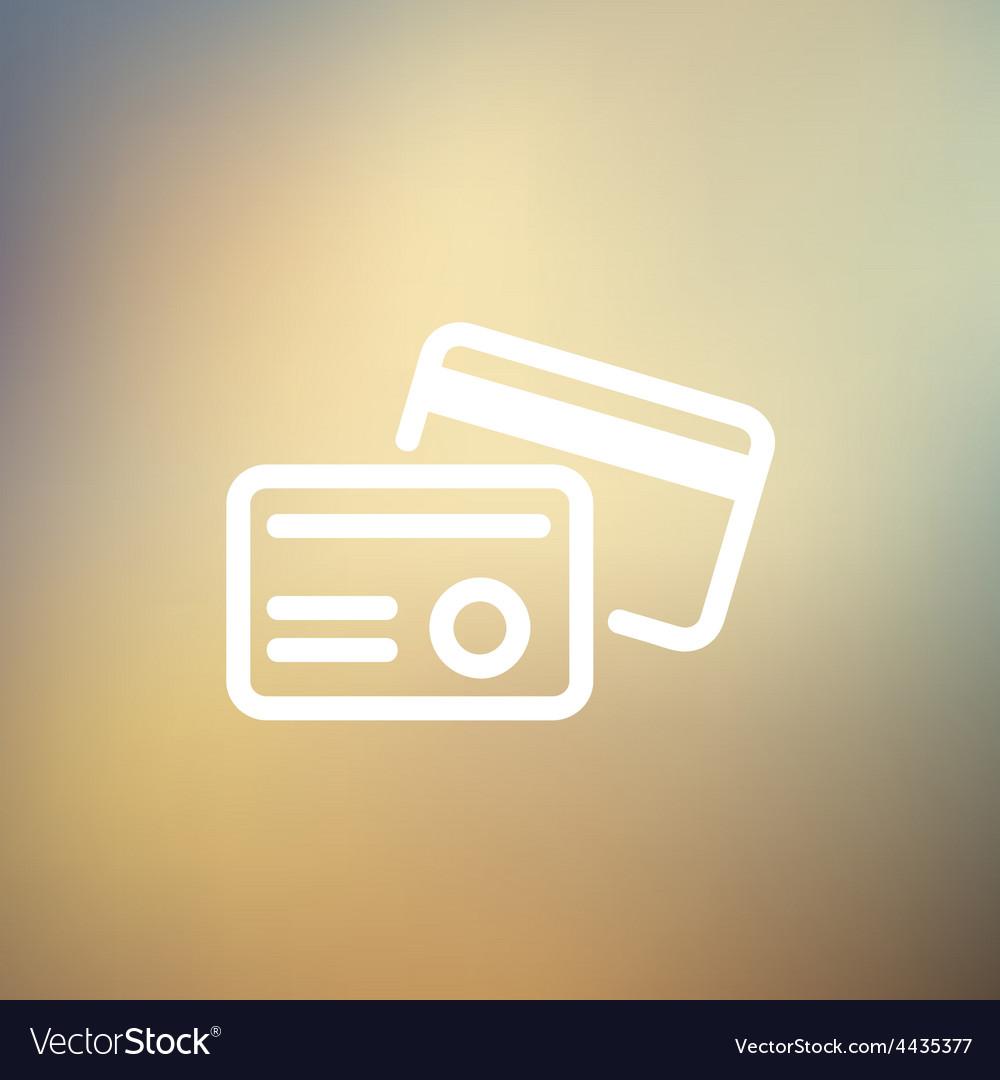 Credit card thin line icon vector | Price: 1 Credit (USD $1)