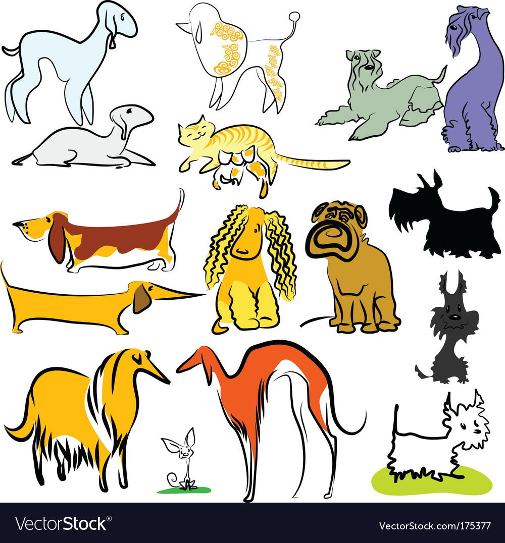 Dogs vector | Price: 5 Credit (USD $5)