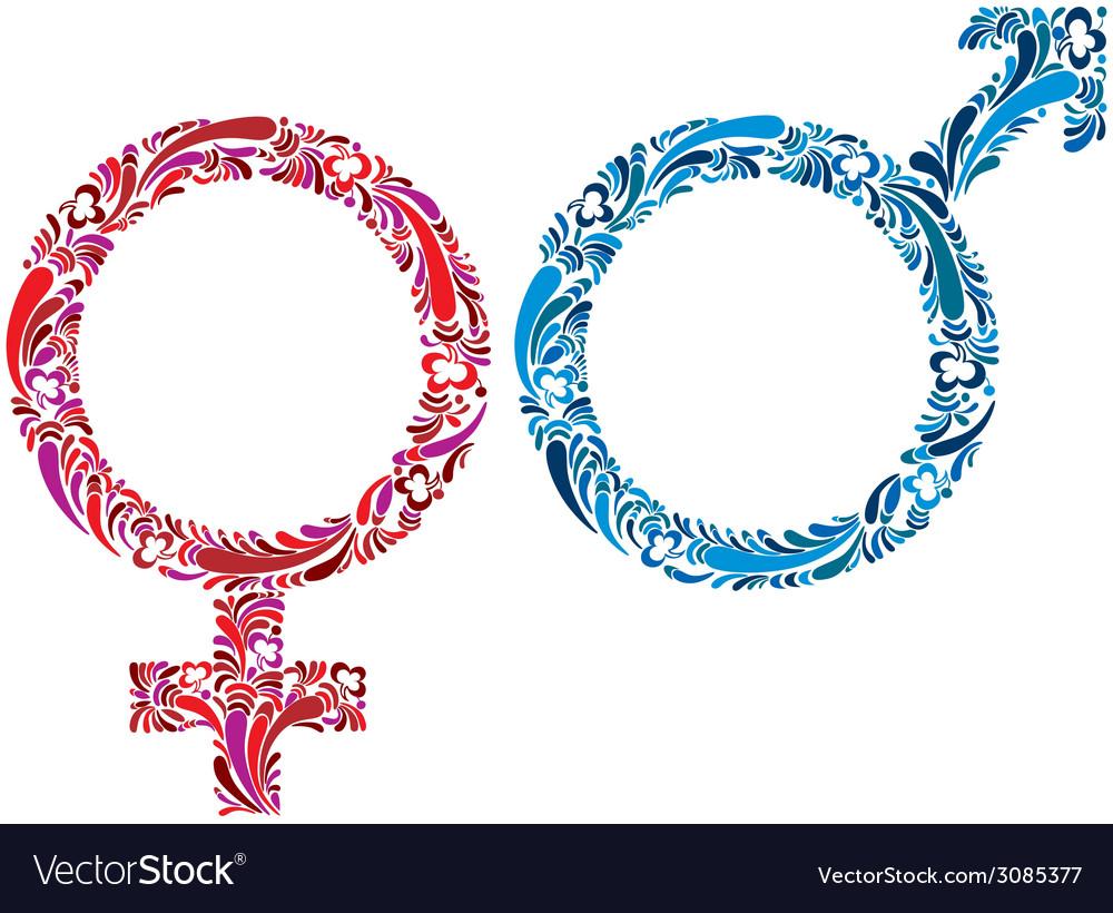 Female and male symbols vector   Price: 1 Credit (USD $1)