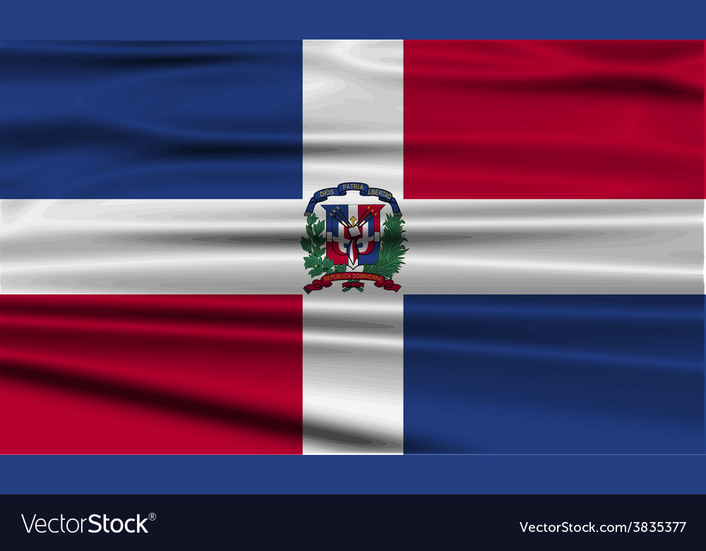 Flag of dominican republic with old texture vector | Price: 1 Credit (USD $1)