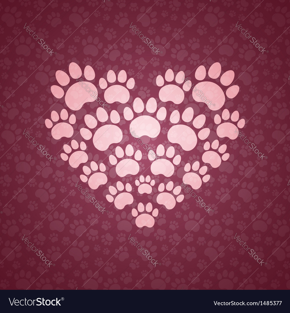 Heart of the cat traces vector | Price: 1 Credit (USD $1)