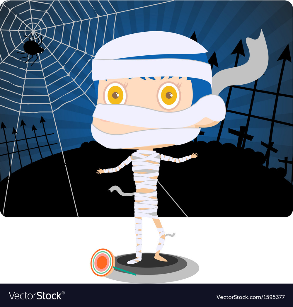 Little mummy boy vector | Price: 1 Credit (USD $1)
