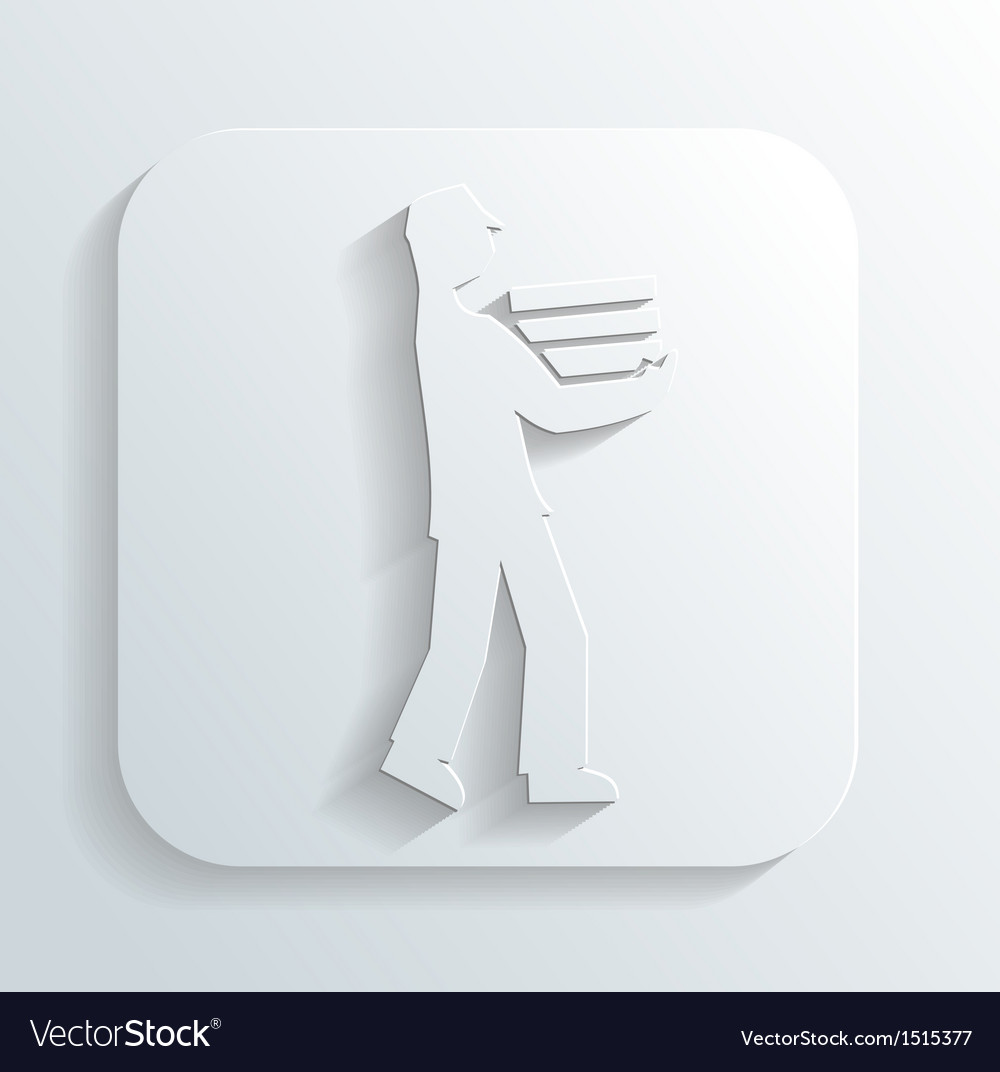 Man carries books vector | Price: 1 Credit (USD $1)