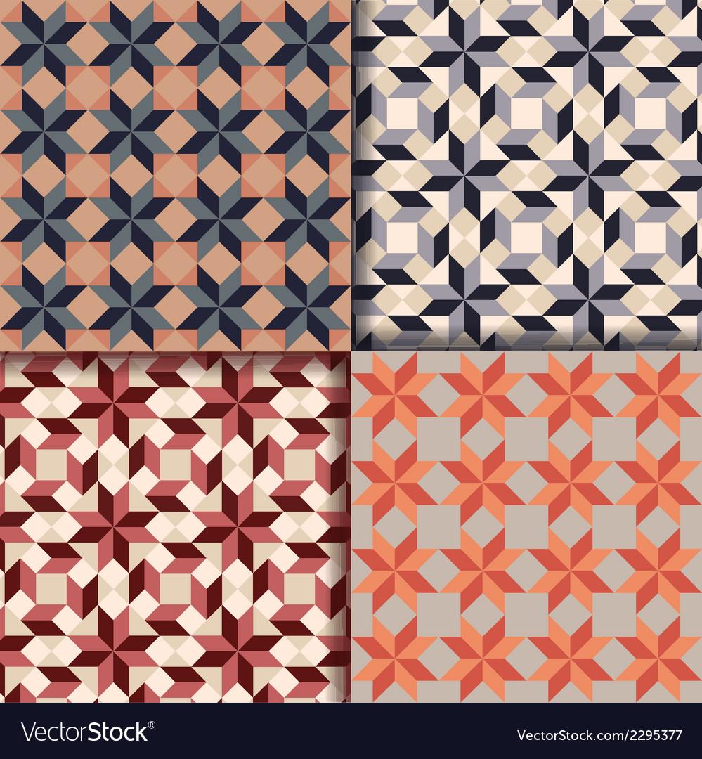 Retro geometric patterns background vector | Price: 1 Credit (USD $1)