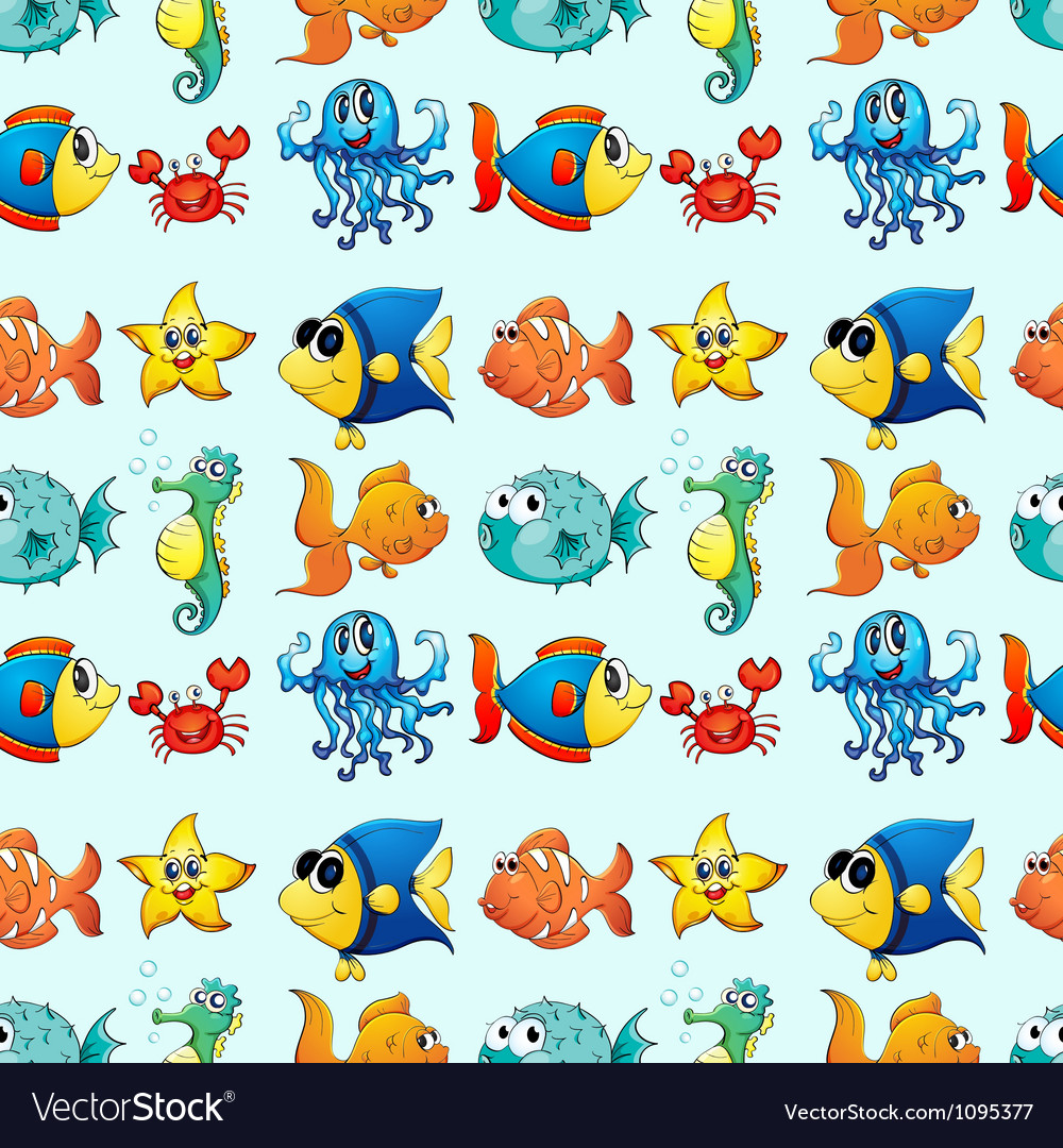 Various sea animals vector | Price: 1 Credit (USD $1)