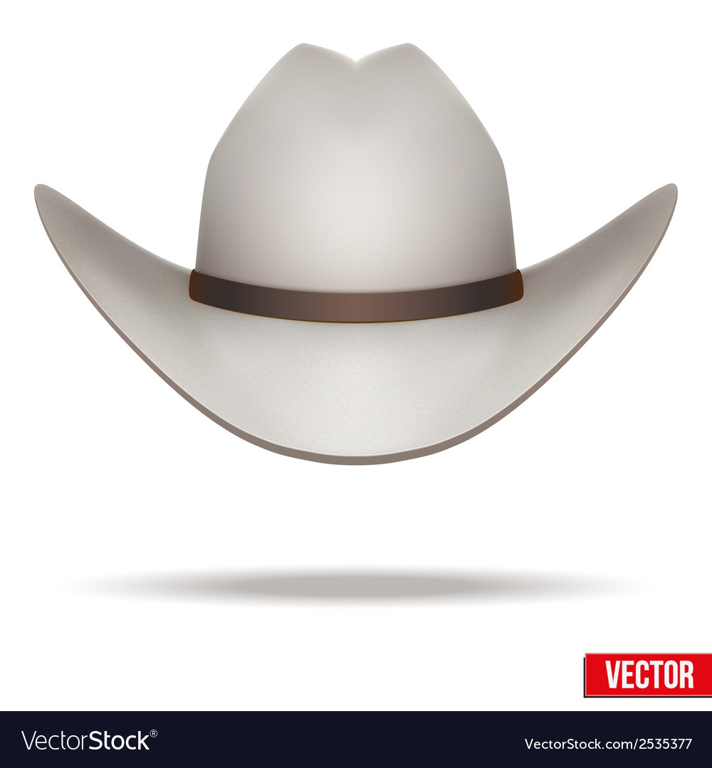 White cowboy hat  isolated on white background vector | Price: 1 Credit (USD $1)