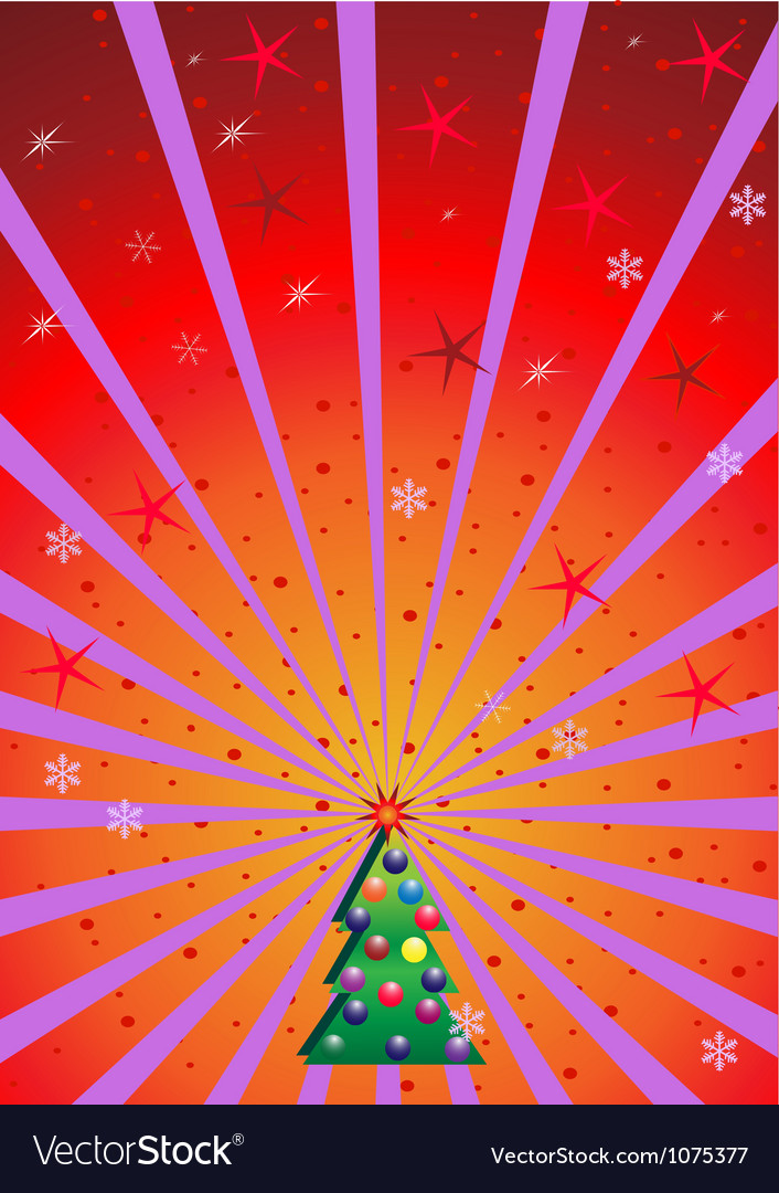 Xmas background with rays vector | Price: 1 Credit (USD $1)
