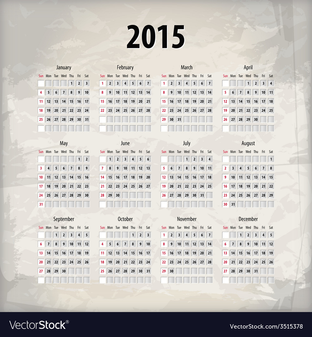 2015 calendar on textured background vector | Price: 1 Credit (USD $1)