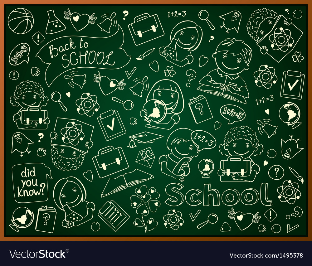 Background with school blackboard vector | Price: 3 Credit (USD $3)