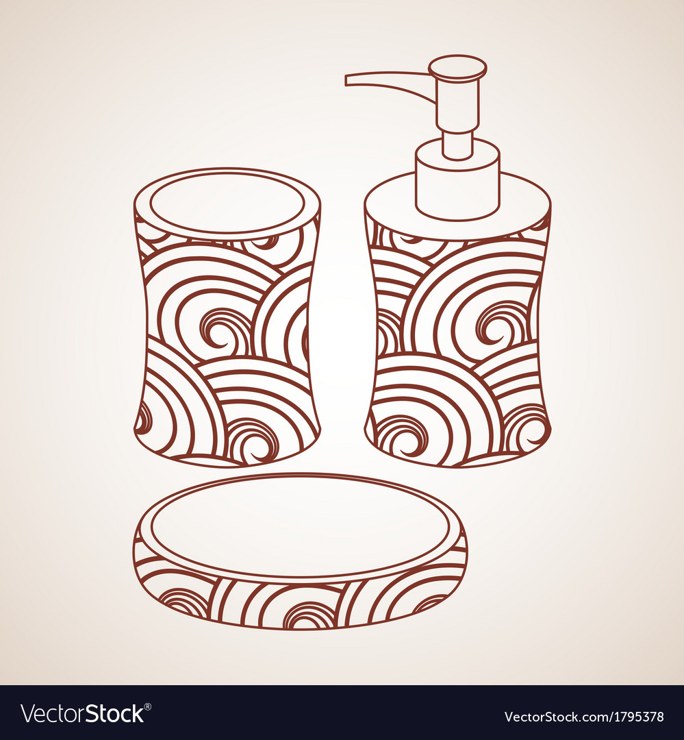 Bath accessory vector | Price: 1 Credit (USD $1)