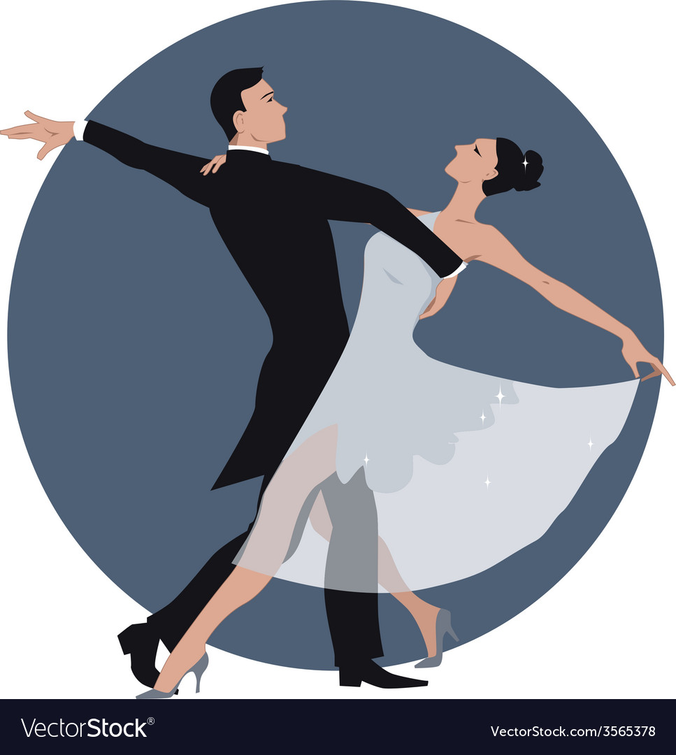 Couple dancing waltz vector | Price: 1 Credit (USD $1)