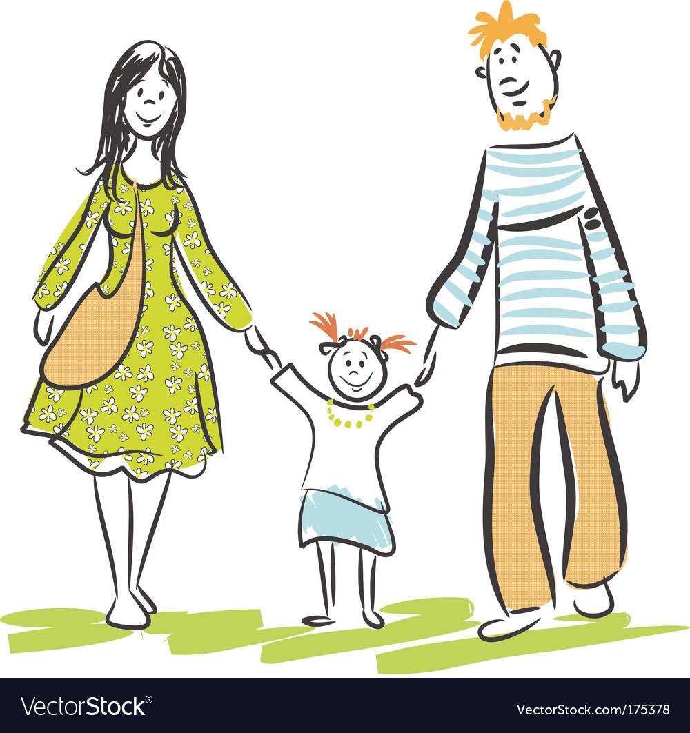 Family walk vector   Price: 1 Credit (USD $1)