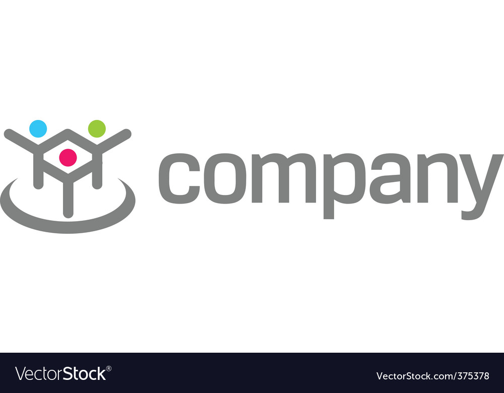 Human logo for social fund vector | Price: 1 Credit (USD $1)