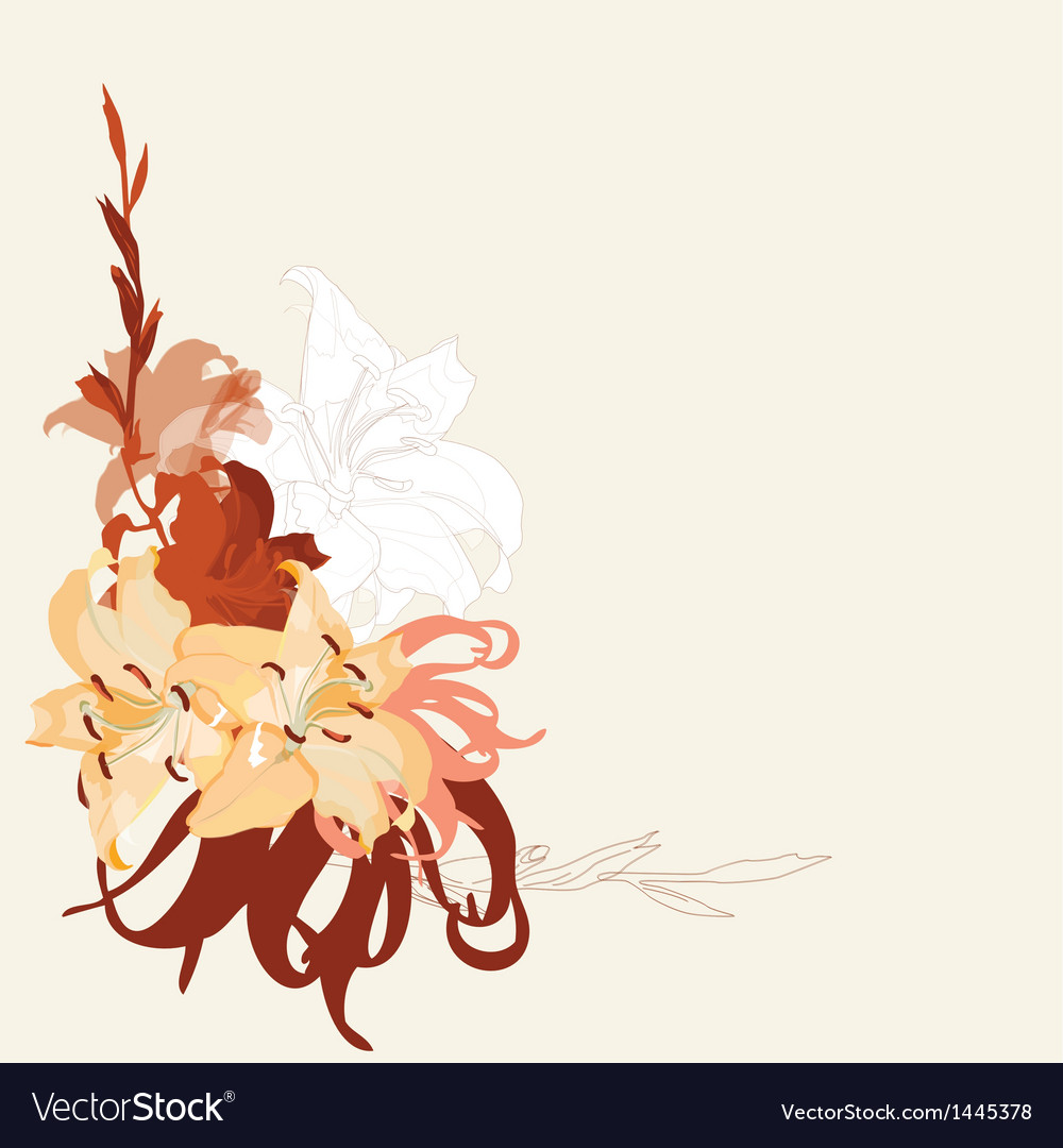 Lily bouquet design vector | Price: 1 Credit (USD $1)