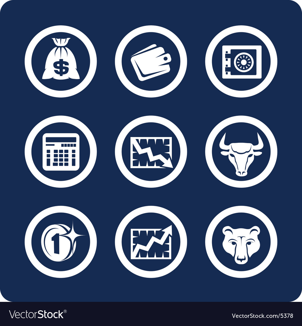 Money and finance icons vector | Price: 1 Credit (USD $1)