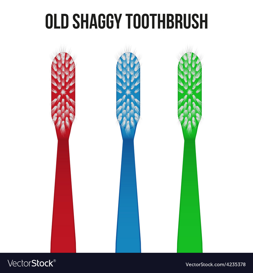 Old toothbrush vector | Price: 1 Credit (USD $1)