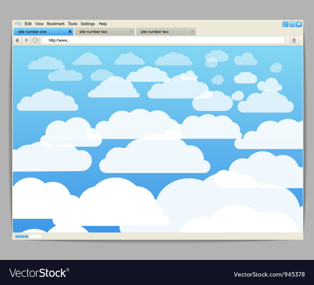 Opened browser window vector | Price: 1 Credit (USD $1)