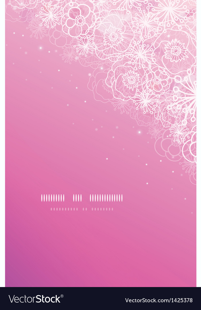 Pink magical flowers glowing vertical background vector | Price: 1 Credit (USD $1)