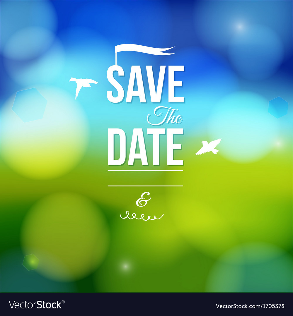 Save the date for personal holiday vector | Price: 1 Credit (USD $1)