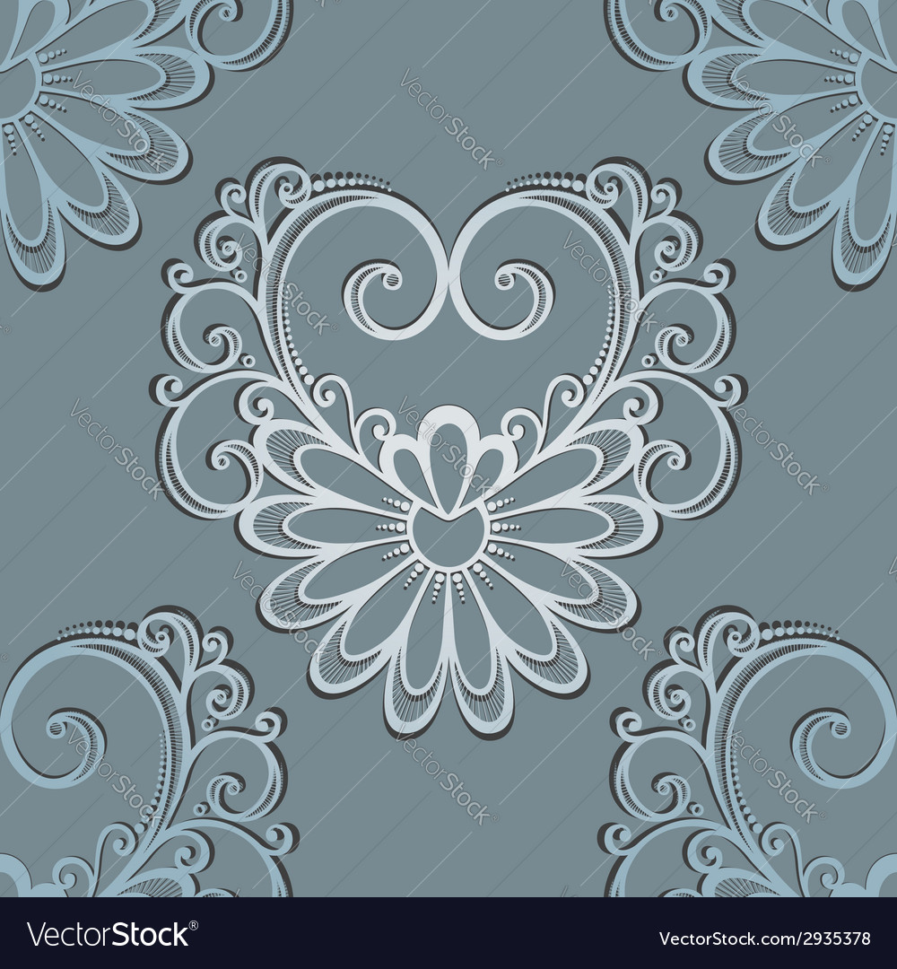 Seamless pattern with hearts vector | Price: 1 Credit (USD $1)