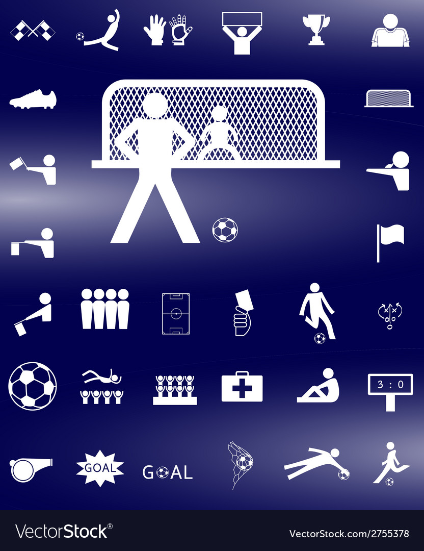 Soccer icon3 vector | Price: 1 Credit (USD $1)
