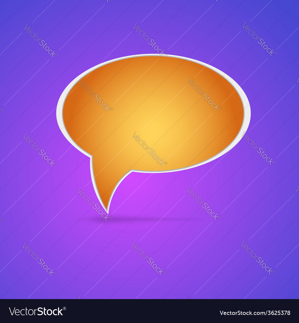 Speech bubble  eps 10 vector | Price: 1 Credit (USD $1)