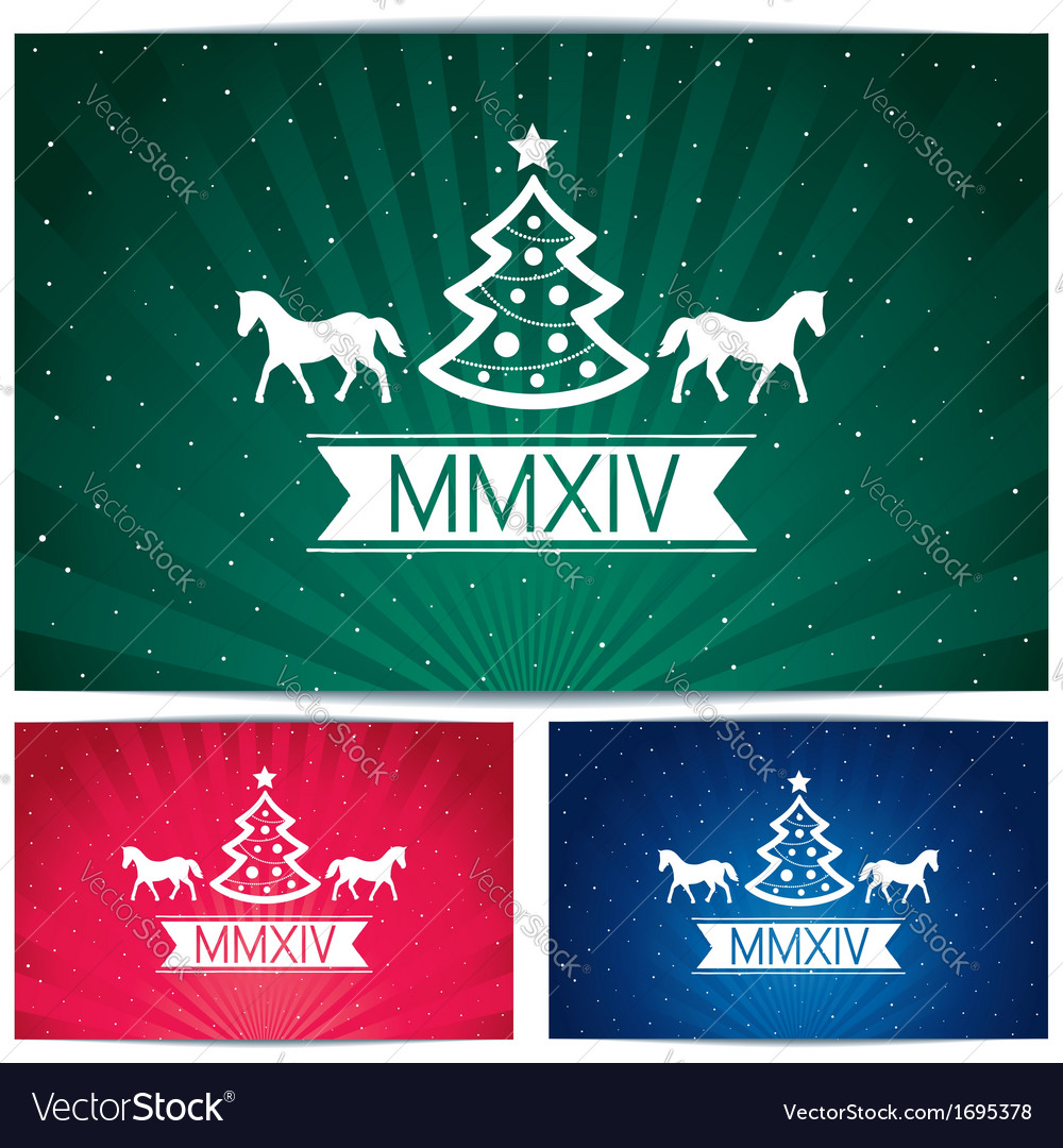 Three happy christmas eve background vector   Price: 1 Credit (USD $1)