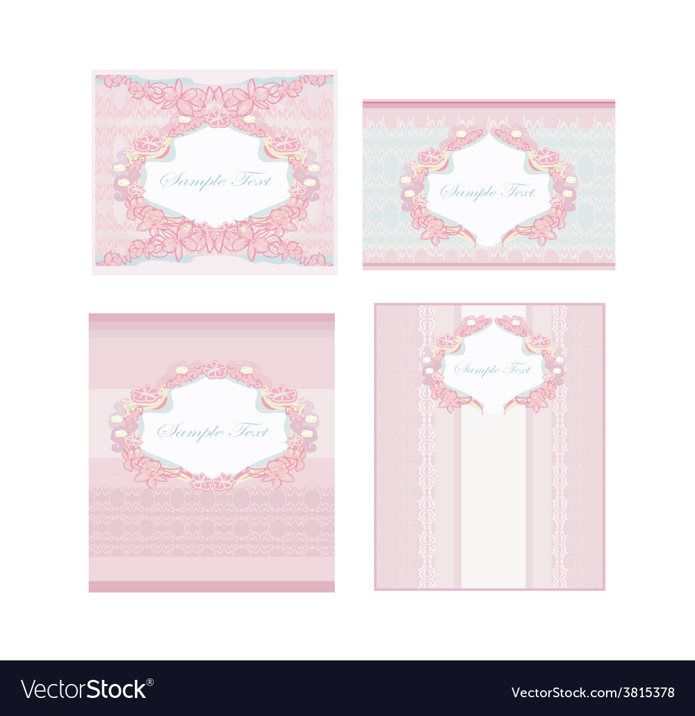Wedding reception card set vector | Price: 1 Credit (USD $1)