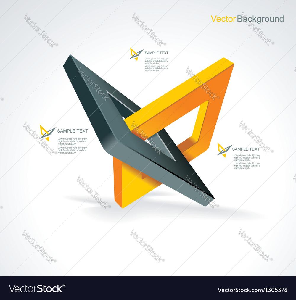 With orthogonal rhomb symbols vector | Price: 1 Credit (USD $1)