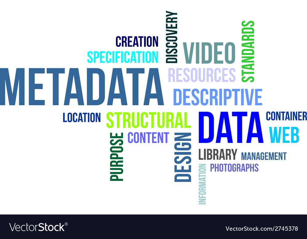 Word cloud metadata vector | Price: 1 Credit (USD $1)