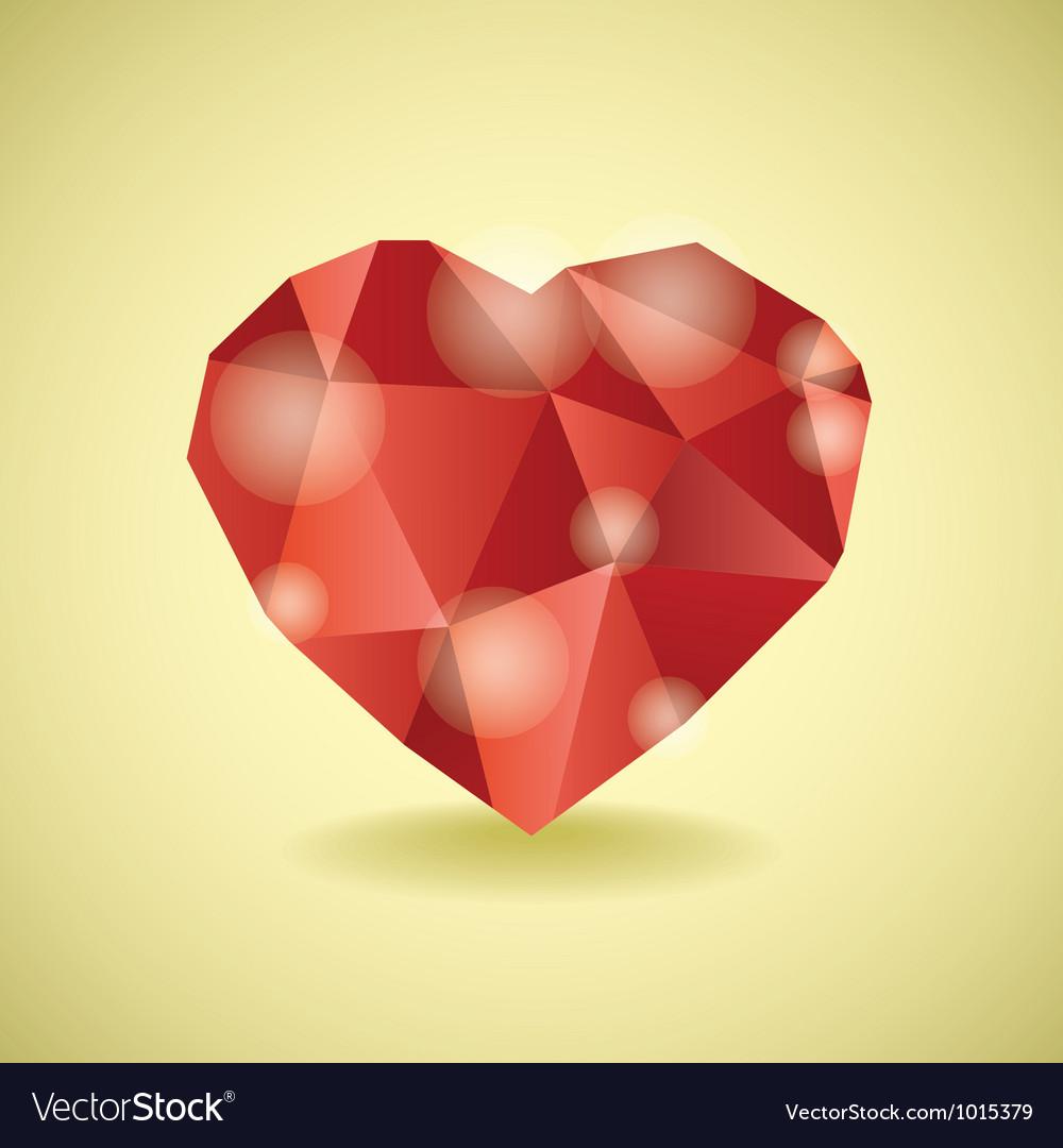 Abstract diamond heart vector | Price: 1 Credit (USD $1)