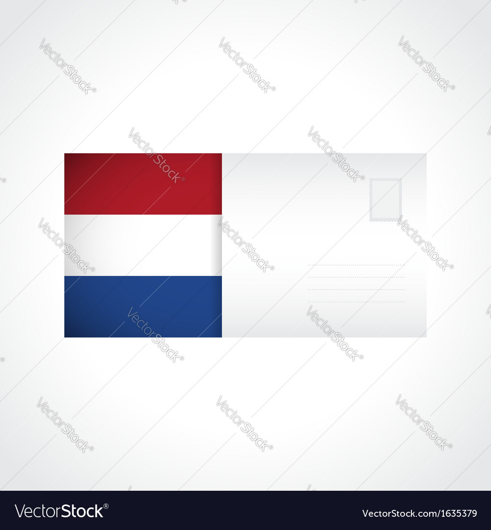 Envelope with dutch flag card vector | Price: 1 Credit (USD $1)