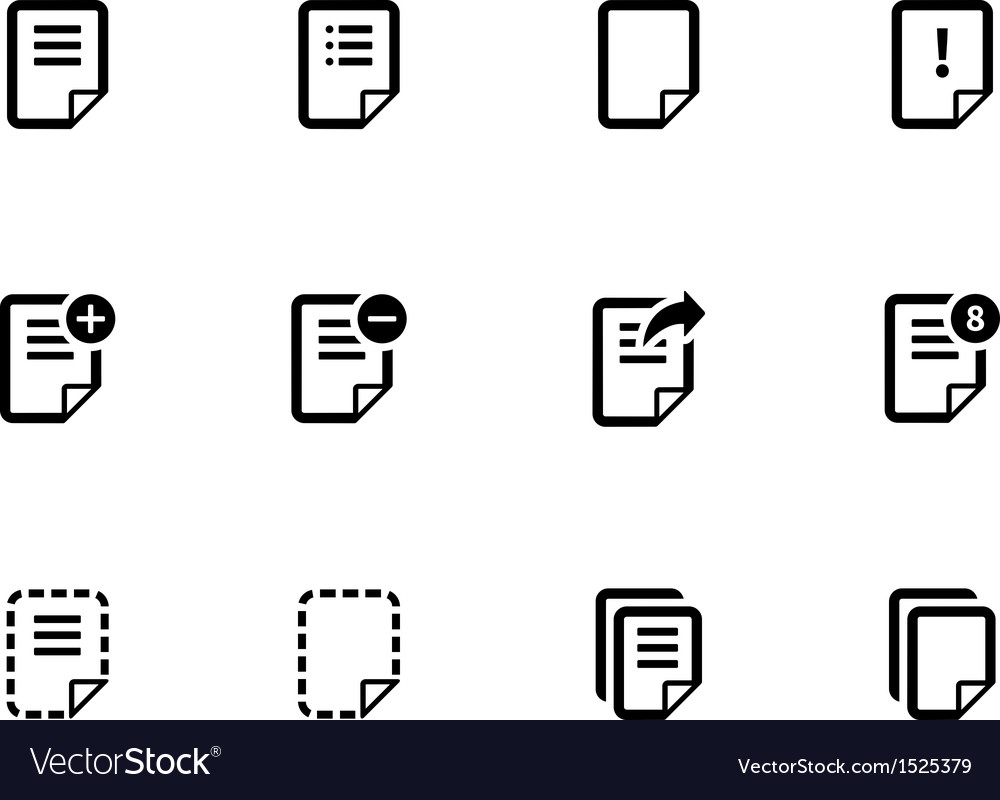 Notepad document file and note icons vector | Price: 1 Credit (USD $1)
