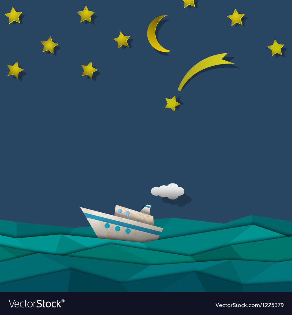 Paper cruise liner vector | Price: 1 Credit (USD $1)