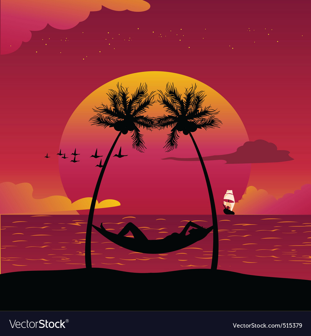 Paradise island vector | Price: 1 Credit (USD $1)