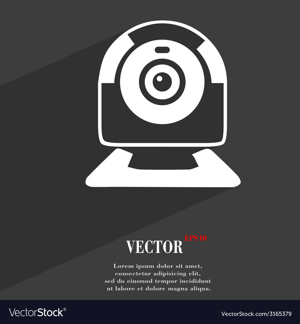 Webcam icon symbol flat modern web design with vector | Price: 1 Credit (USD $1)