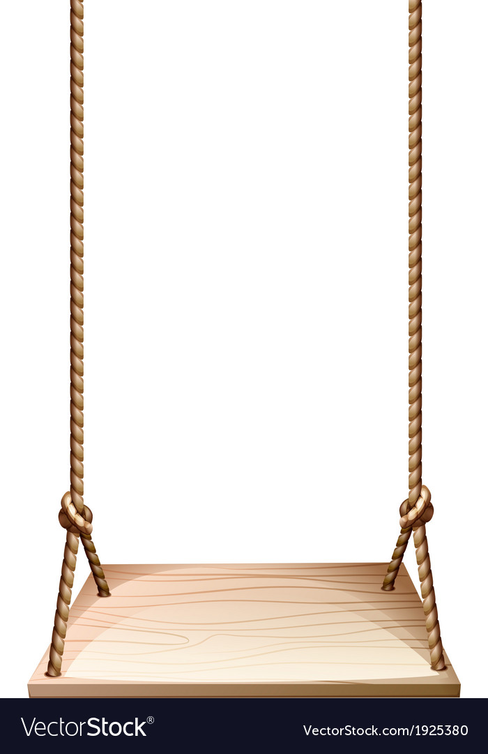 A wooden swing vector | Price: 1 Credit (USD $1)