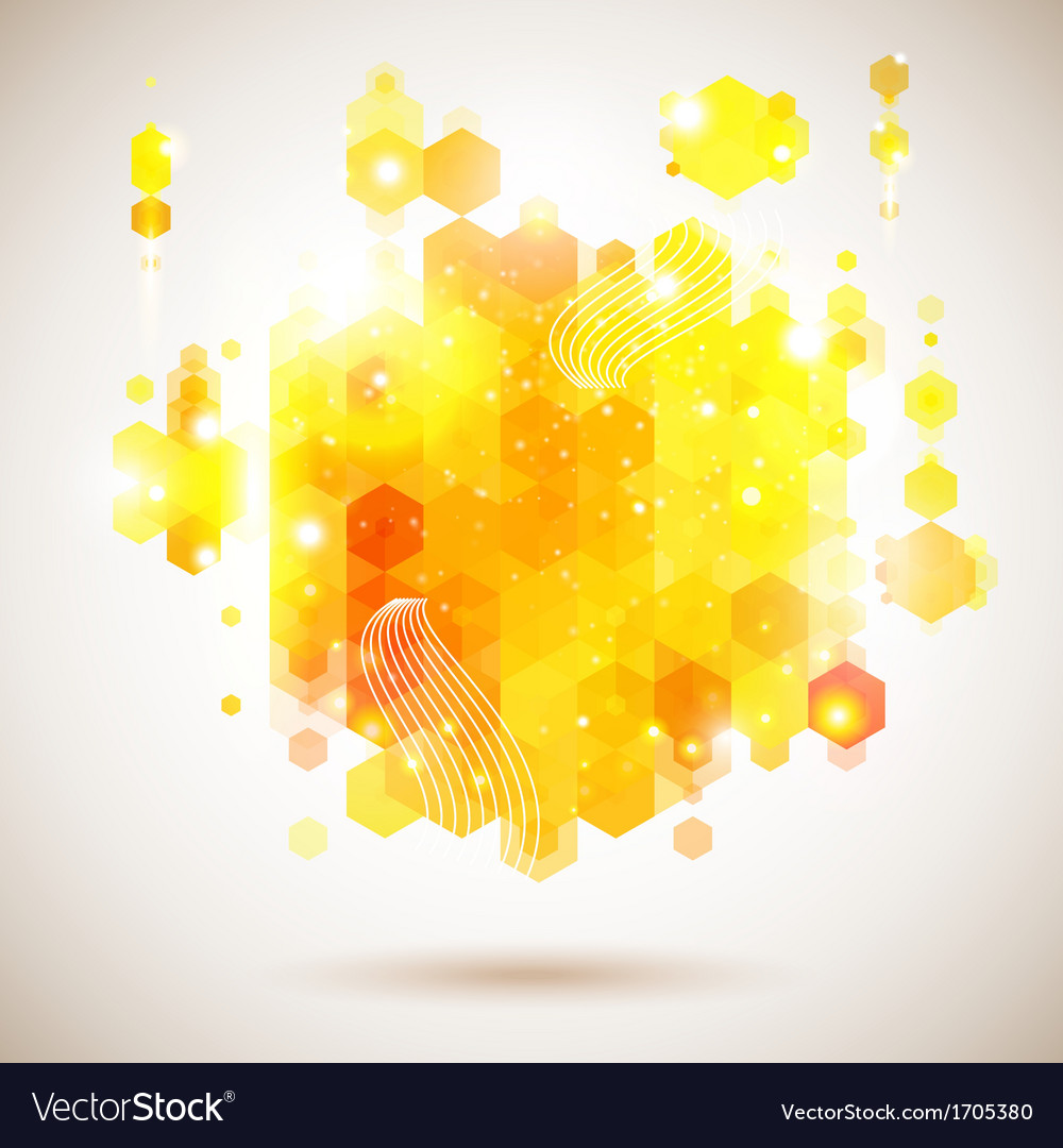 Bright and optimistic poster lush yellow abstract vector | Price: 1 Credit (USD $1)