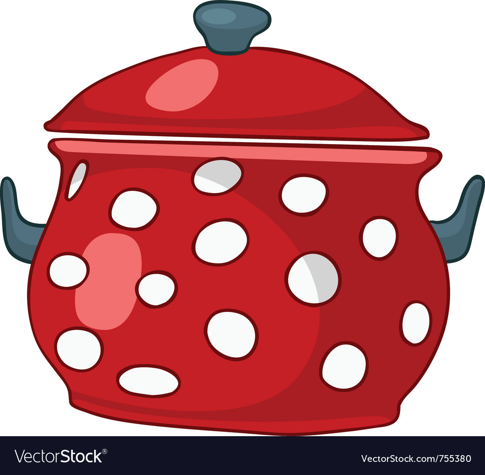 Cartoon home kitchen pot vector | Price: 1 Credit (USD $1)