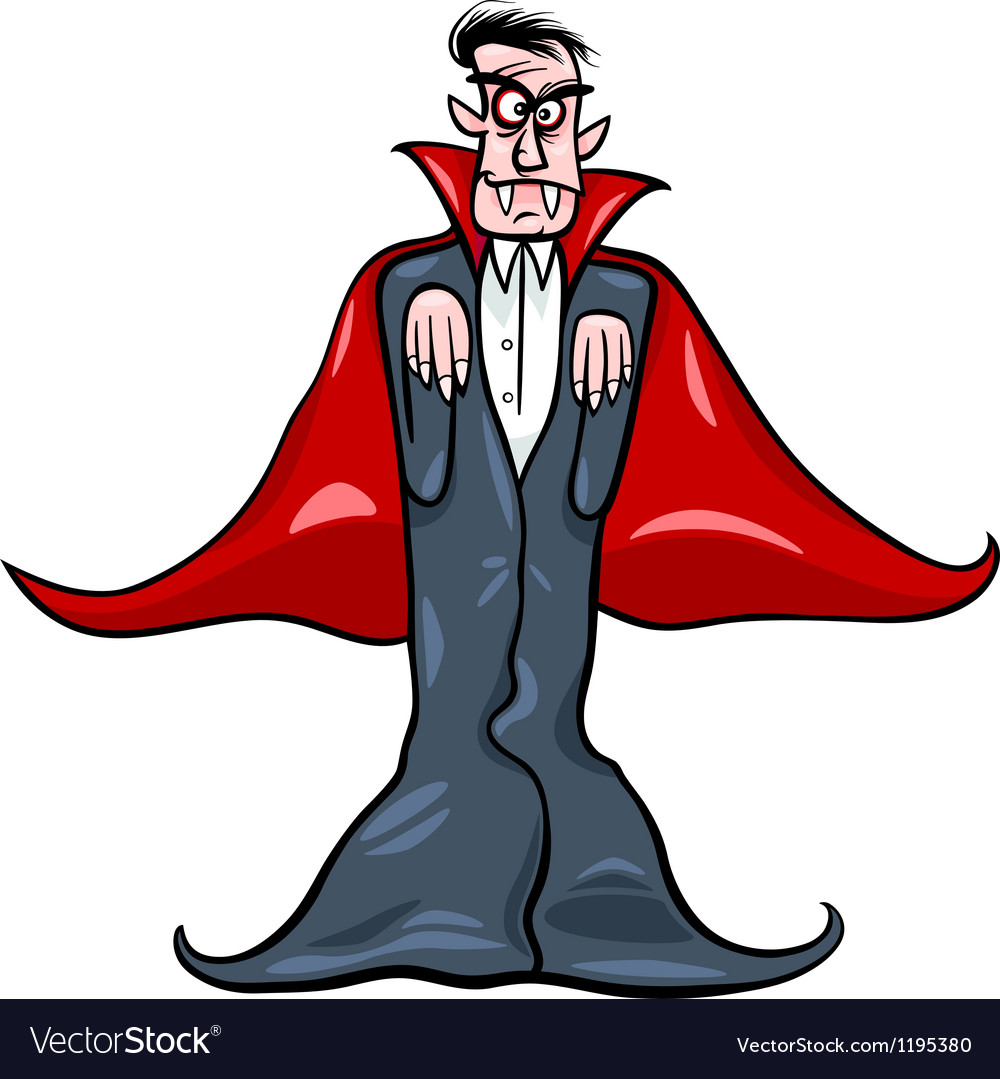 Dracula vampire cartoon vector | Price: 1 Credit (USD $1)