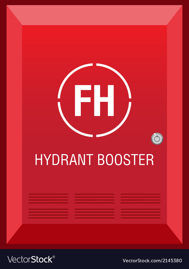 Fire hydrant booster sign vector | Price: 1 Credit (USD $1)