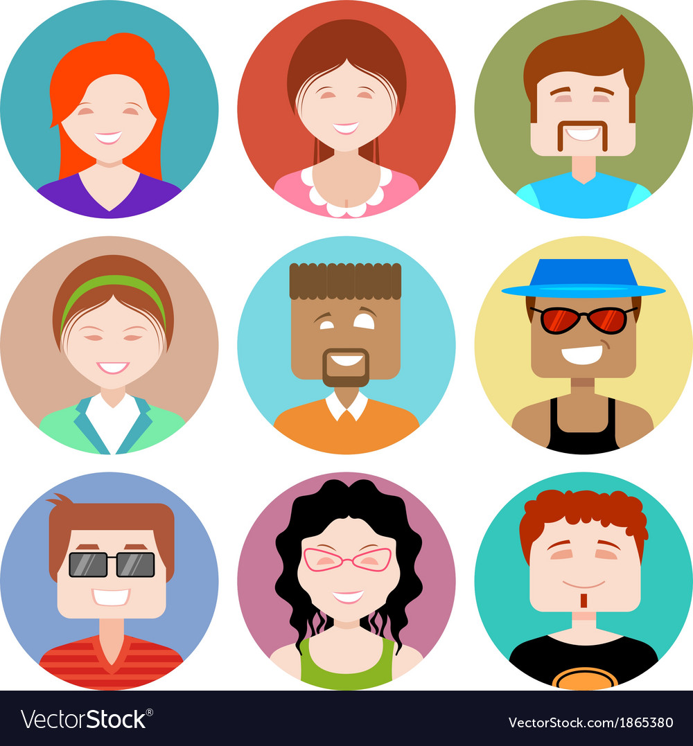 Flat design people icon vector | Price: 1 Credit (USD $1)