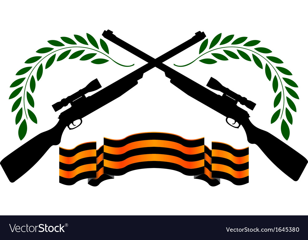 Georgievsy ribbon and sniper rifles vector | Price: 1 Credit (USD $1)
